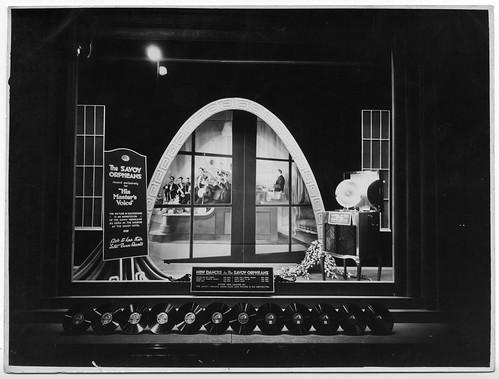 hmv 363 Oxford Street, London - The Savoy Orpheans window display 1920s