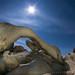 Under the Rising Moon - Arch Rock, Joshua Tree National Park, California