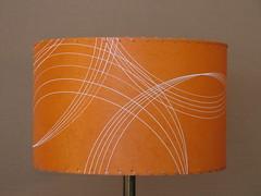 Orange drum lamp shade orange lampshade 15 inch diameter flickr orange drum lamp shade by meteor lights aloadofball Gallery