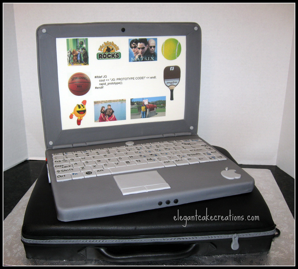 Laptop And Case Cake By Elegant Creations Az