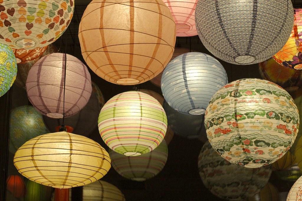 Lamps japanese paper lanterns om gallery santa