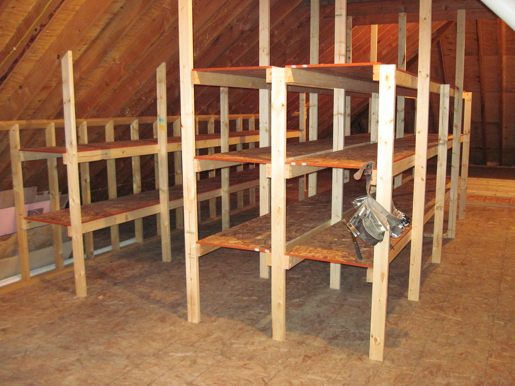 Attic Shelving The Large Attic Is Perfect For Storage Of