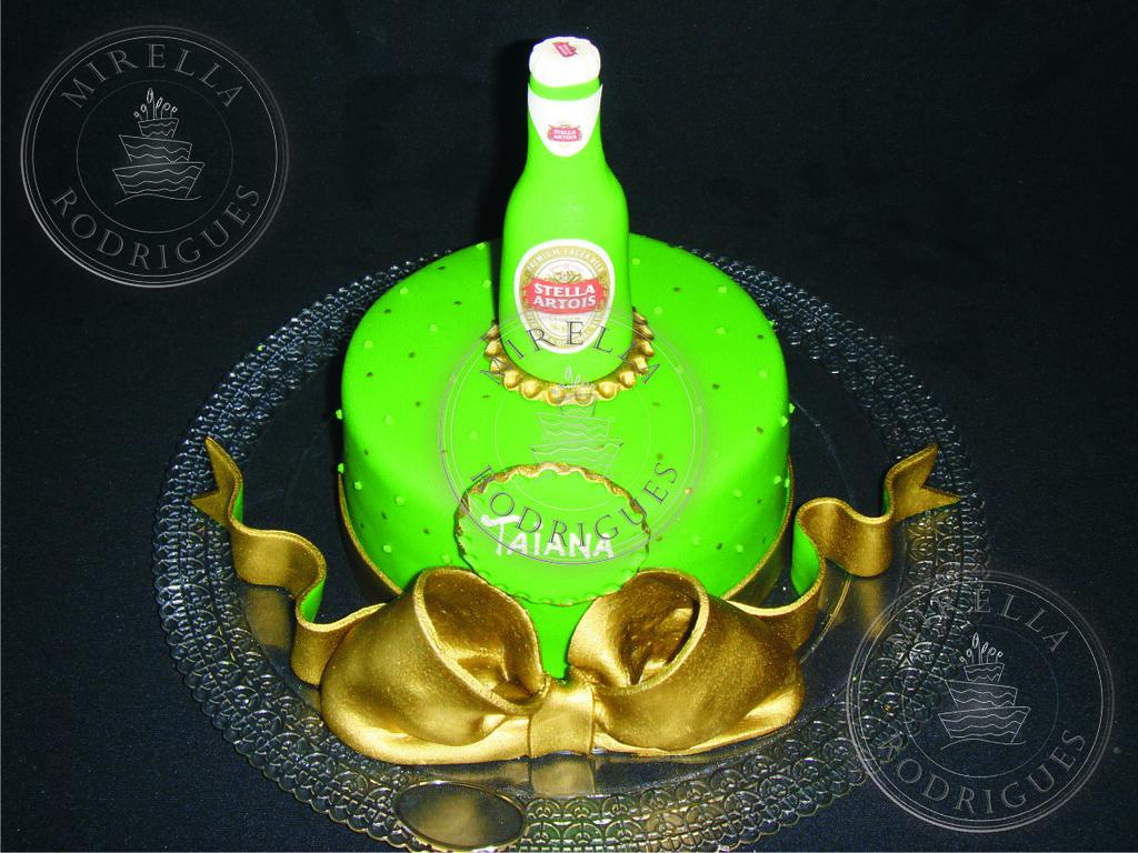 Fabuloso Stella Artois beer birthday cake / Bolo de aniversário cer…   Flickr HF04