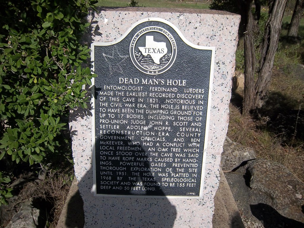 Dead Man S Hole Marble Falls Texas Historical Marker