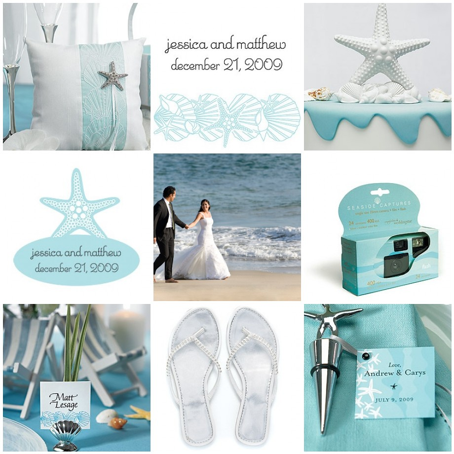 Beach Wedding Theme in Aqua, Silver and White | See resource… | Flickr