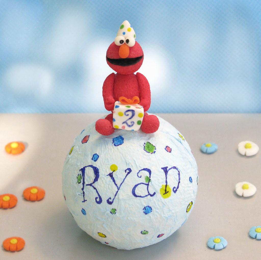 Elmo Sesame Street Birthday Cake Topper Personalized Handmade