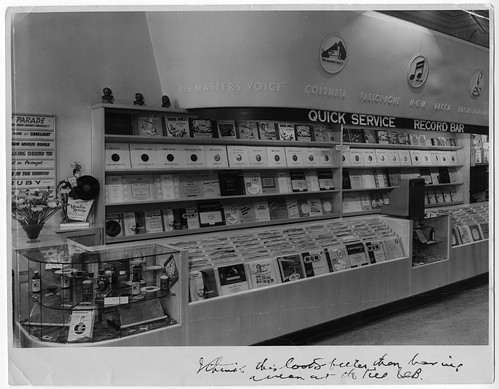 hmv records Quick Service Bar at W.H. Palings & Co Sydney - 1940s or 50s