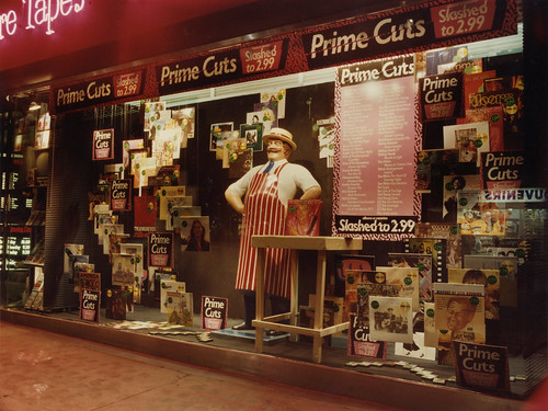 hmv 363 Oxford Street, London - Prime Cuts sale window display 1980s | by hmv_getcloser
