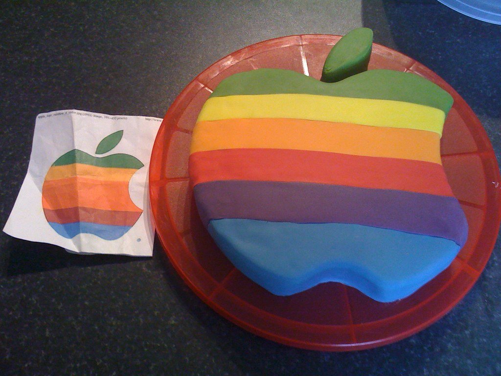 Apple Macalicious Birthday Cake Retro Apple Logo Cake For Flickr