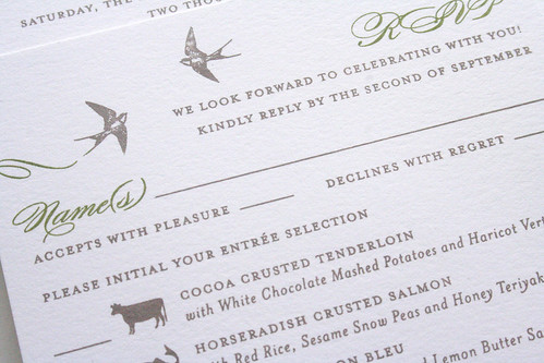 Garden Wedding Invitation | by Sarah Parrott