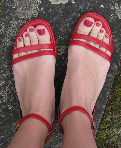 Red Sandals | by academichic