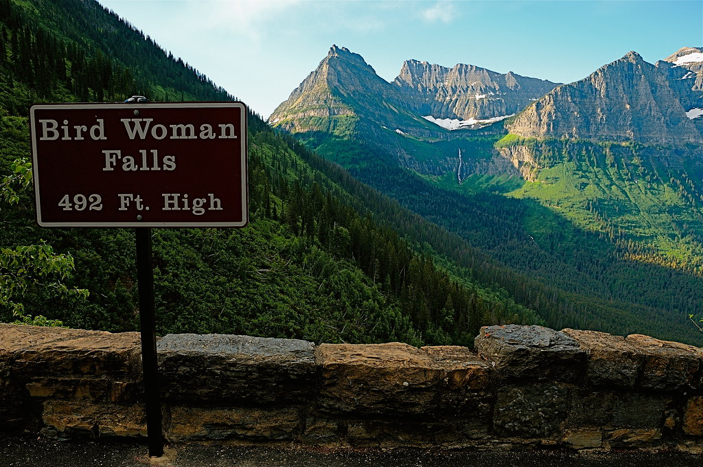 Bird Woman Falls | A view of one of Glacier Parks highest ...