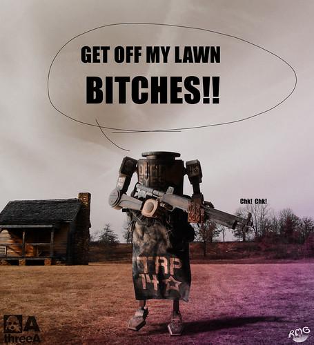 Get off my lawn redhead very