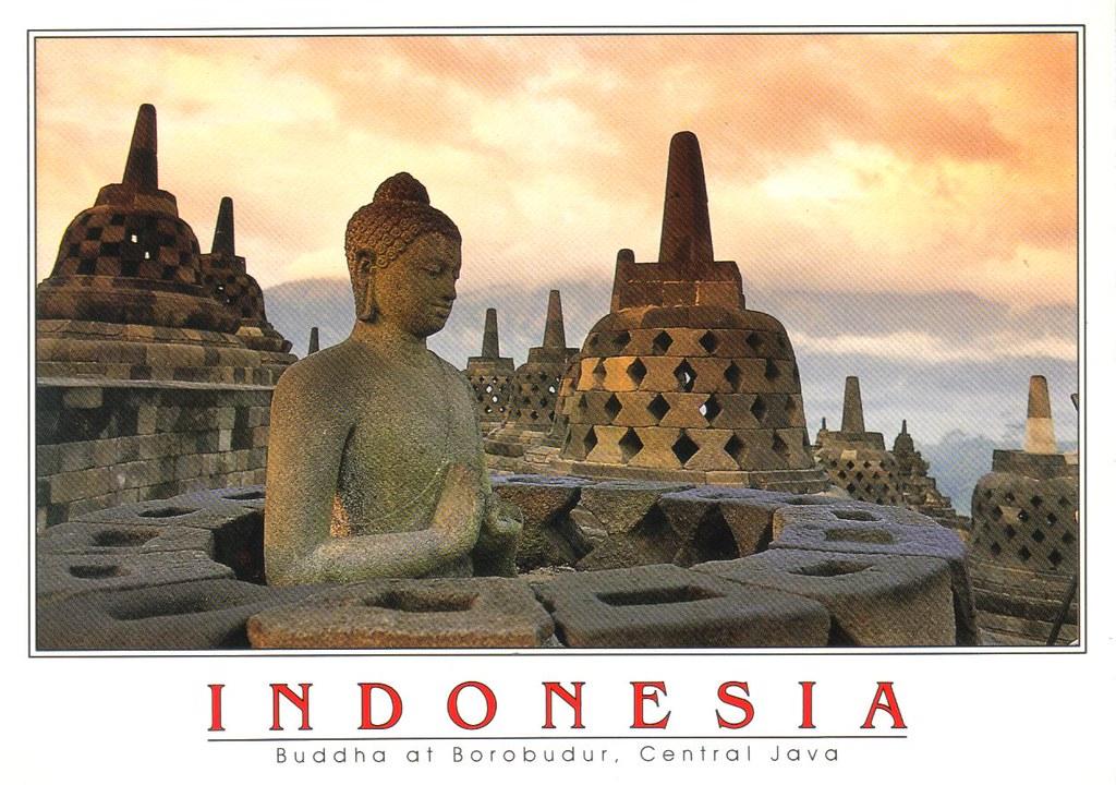 Unesco Indonesia Buddha Borobudur Temple Postcard Buddha A Flickr