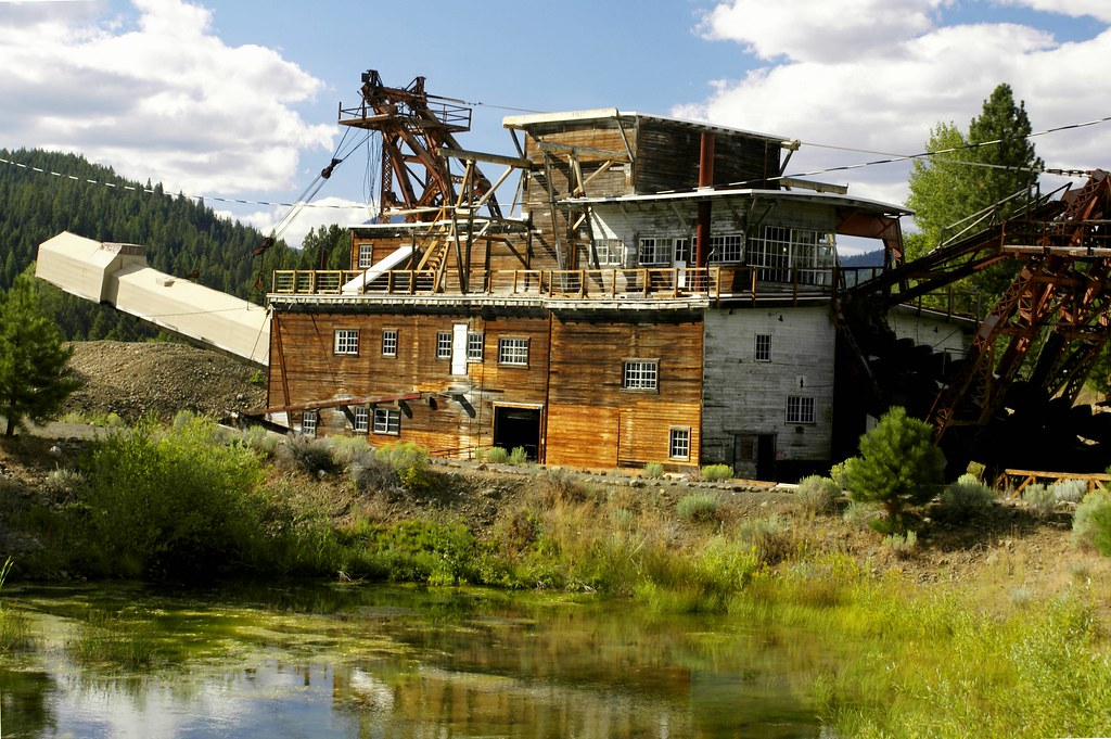 Sumpter S Gold Mining Dredge In The Year Of 1912 The