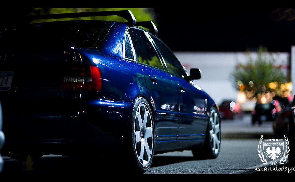 Blue Audi B5 S4 A Nicely Lowered Blue B5 S4 D700 85mm