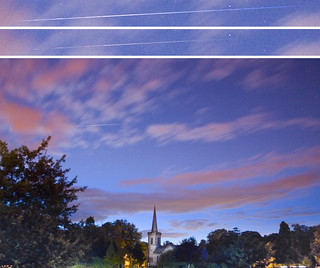 Perseid Meteor over Stanmer Church | by Dominic's pics