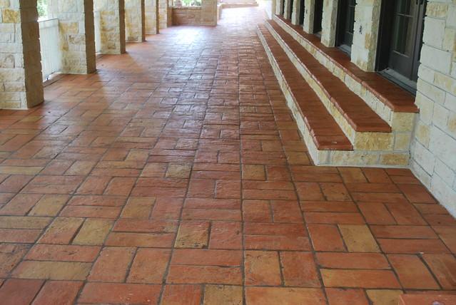 Outdoor terracotta tile flickr photo sharing for Exterior terracotta floor tiles