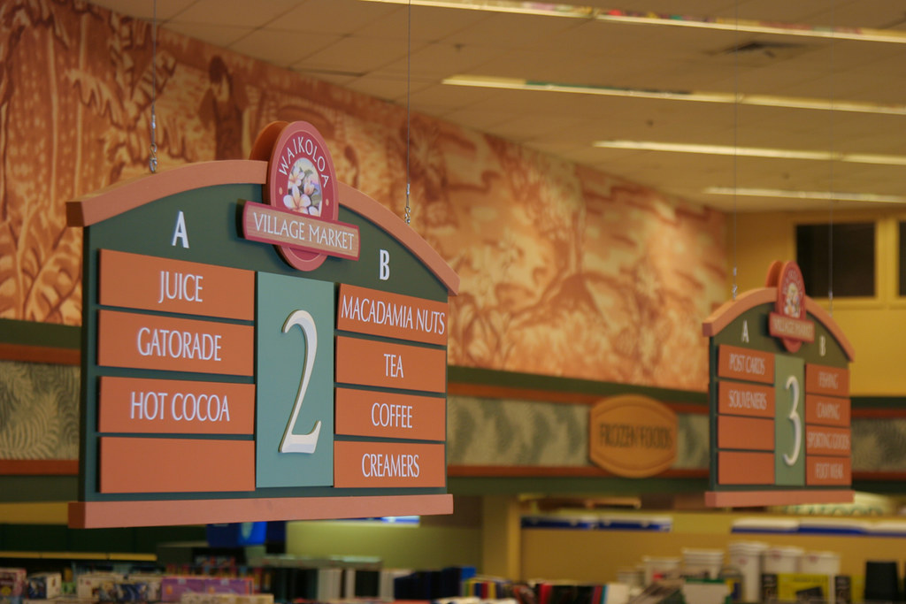 Grocery Aisle Sign | Supermarket Interior Signage Package ...