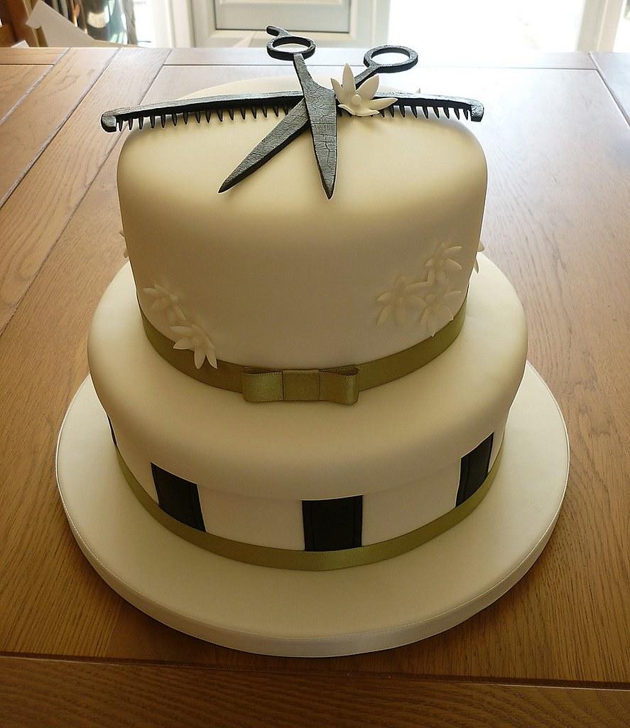 Hair Stylist Cake Design