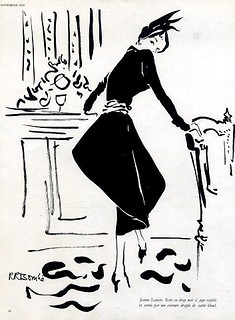 Jeanne Lanvin design illustrated by Rene Bouche, 1949 | by skorver1