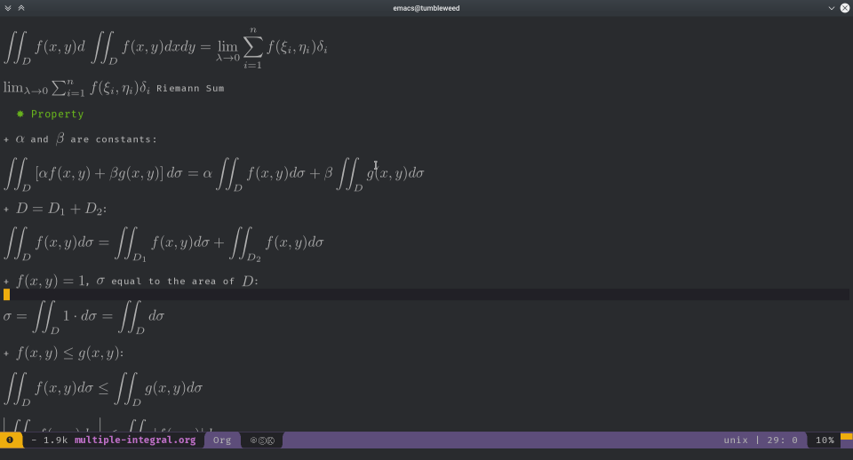 spacemacs + org-mode + latex
