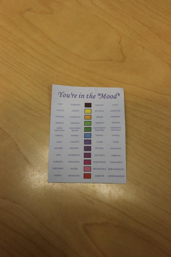 Ring Blank Chart: Mood Ring Chart | Sean Gerety | Flickr,Chart