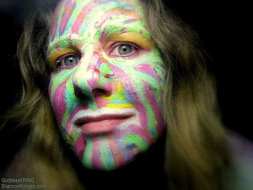 SELF PORTRAIT body pride ride face paint Goddess KRING | by shannonkringen