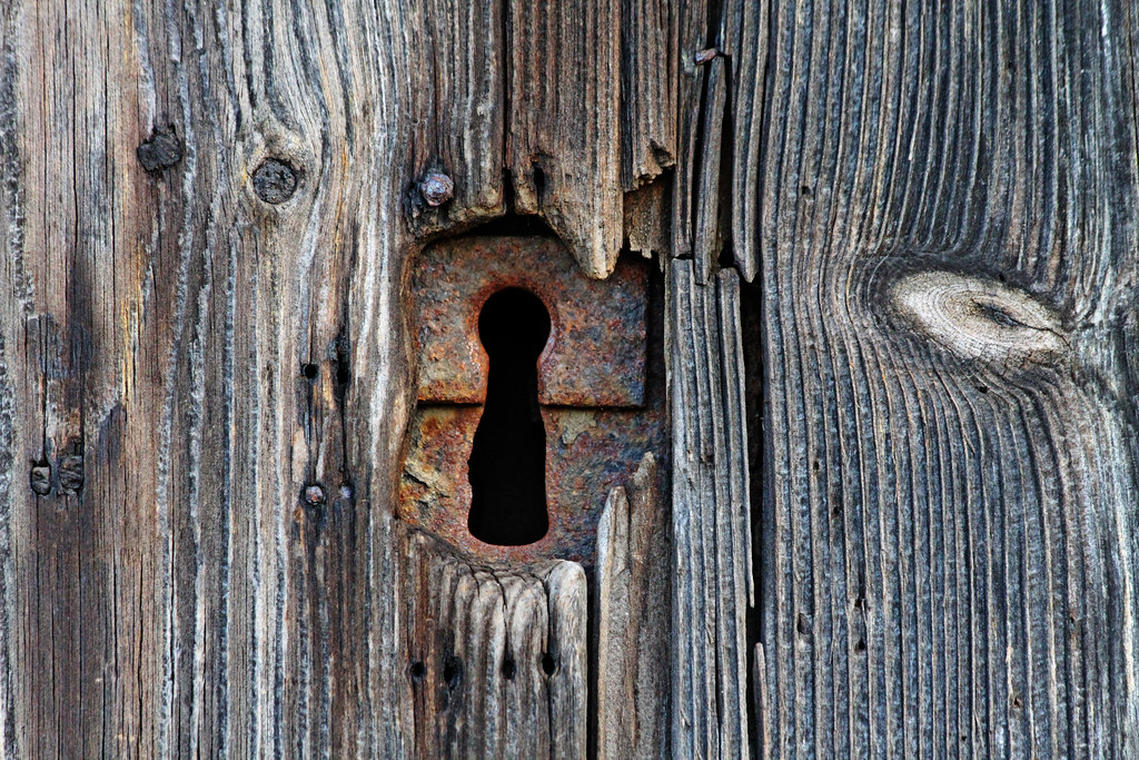 Church Door Keyhole Church Dedication Priory Church Of