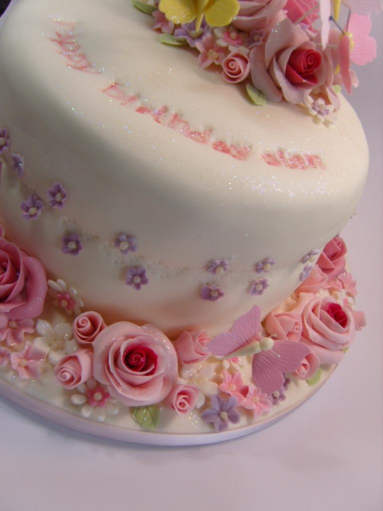Rose Birthday Cake A Special Birthday Cake For Sian Elizabeth