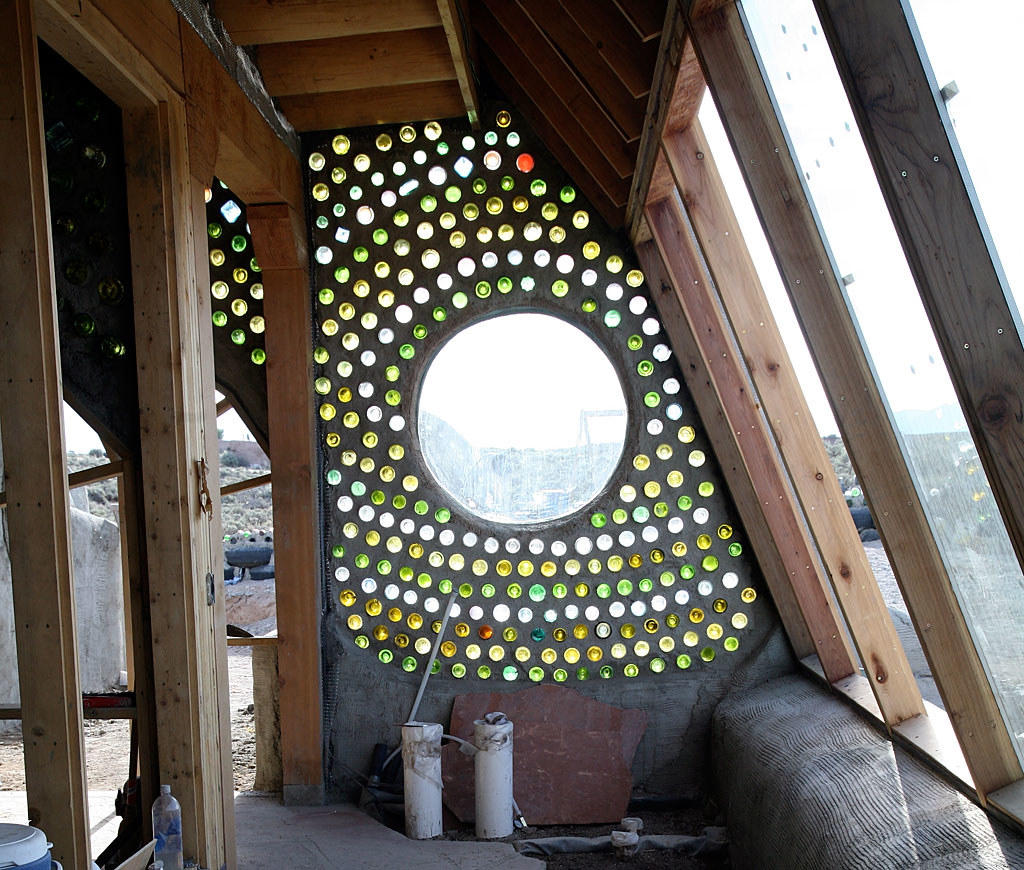 Bottle Wall Earthship Biotecture Flickr