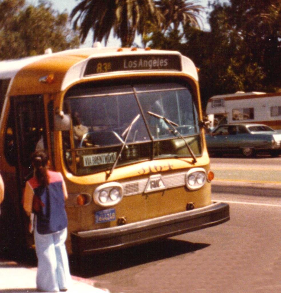 Scrtd Bus 1979 Santa Monica Ca The Rtd Bus 83 Was The