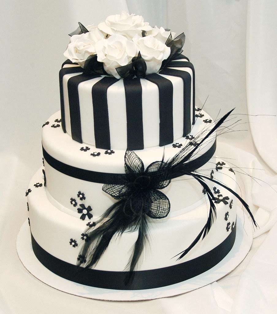 Images Of Black And White Cake : 3 Tier Black & White Wedding Cake Emma Vernon Flickr