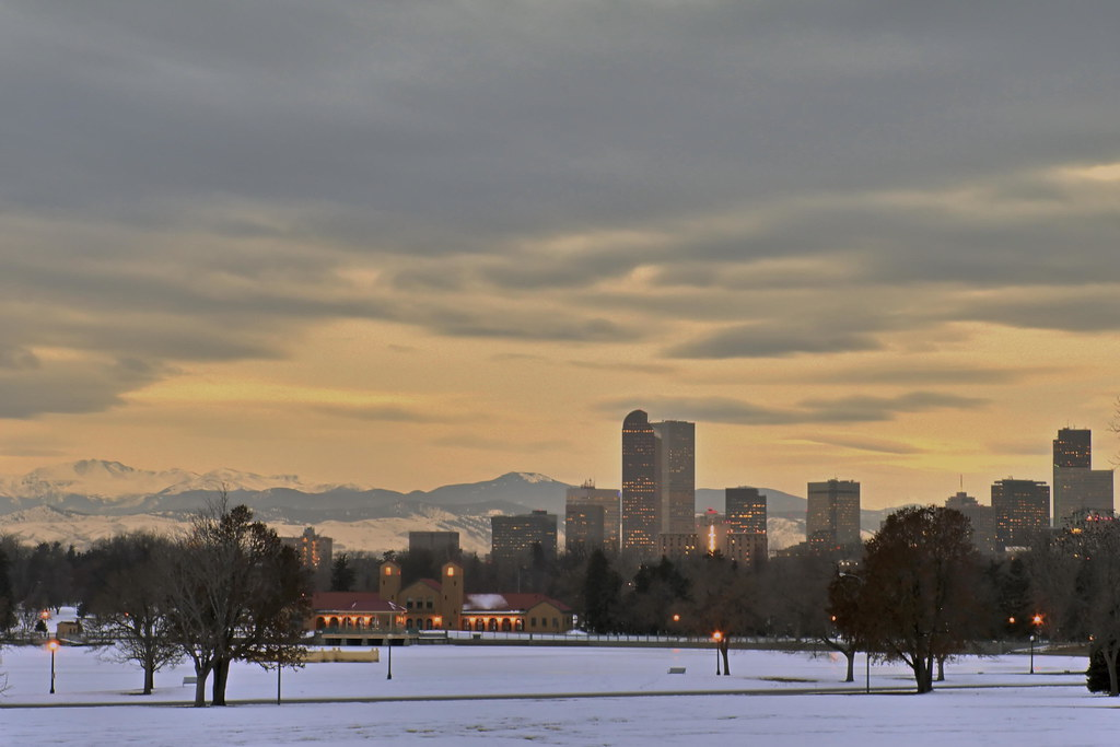 Downtown Denver Winter Sunset Downtown Never At Sunset