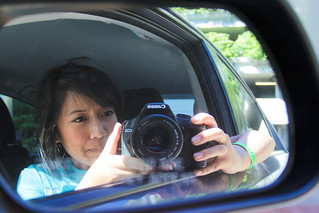 Car Mirror Self Portrait | by margyyy