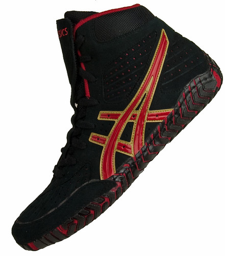 Black And Red Asics Wrestling Shoes Wrestling Shoes Black Red