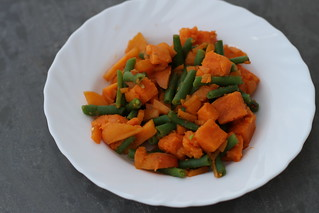 Sweet Potato, Green Beans and Apricot Salad | by veganbackpacker