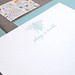 Custom Letterpress Bee Stationery