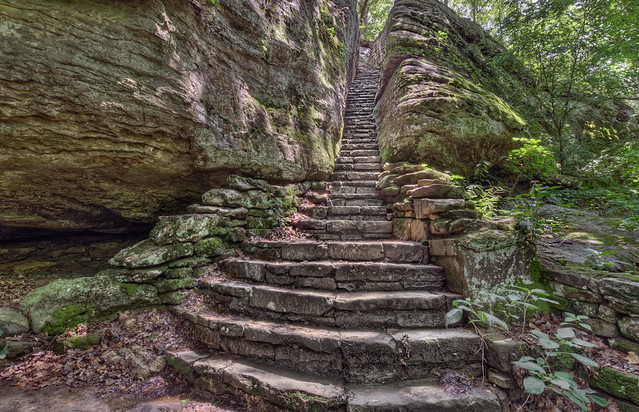 Shawnee Stone Stairs In The Forest Flickr Photo Sharing