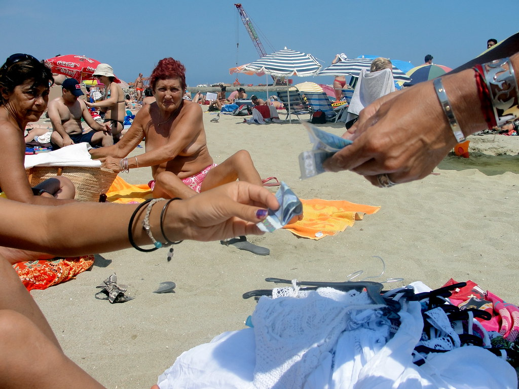 nude beach barcelona aparna purchasing a dress by the sea flickr