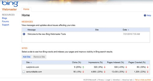 New Bing Webmaster Tools | by rustybrick