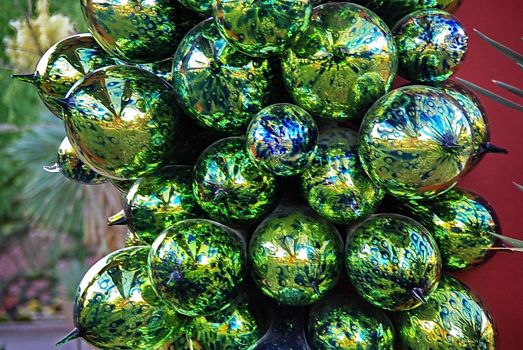 Chihuly Green Orbs Desert Botanical Garden I visited t Flickr