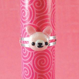 Amigurumi Adjustable Ring : Amigurumi Kingdom pink bunny rabbit adjustable ring Flickr