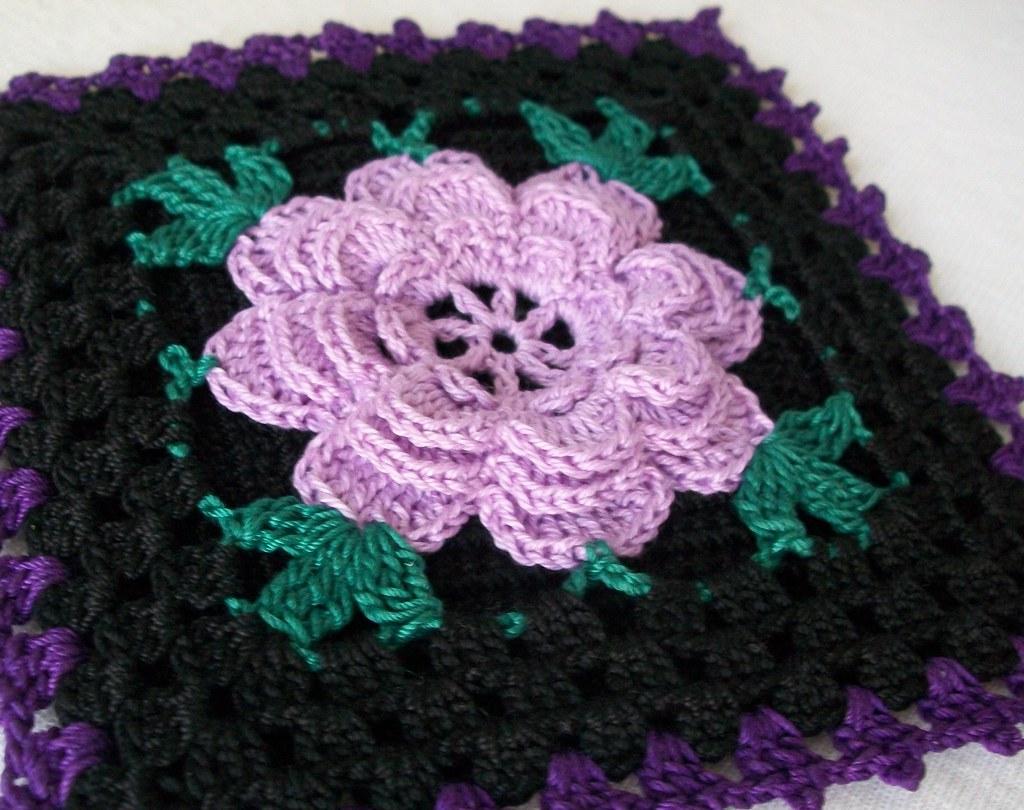 Black gothic crochet potholder in vintage style with laven flickr bankloansurffo Images