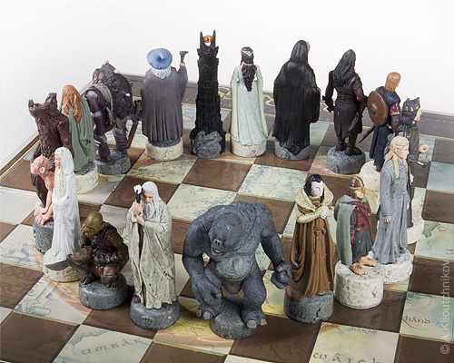 The Lord Of The Rings Trilogy Chess Close Up Alex Kay
