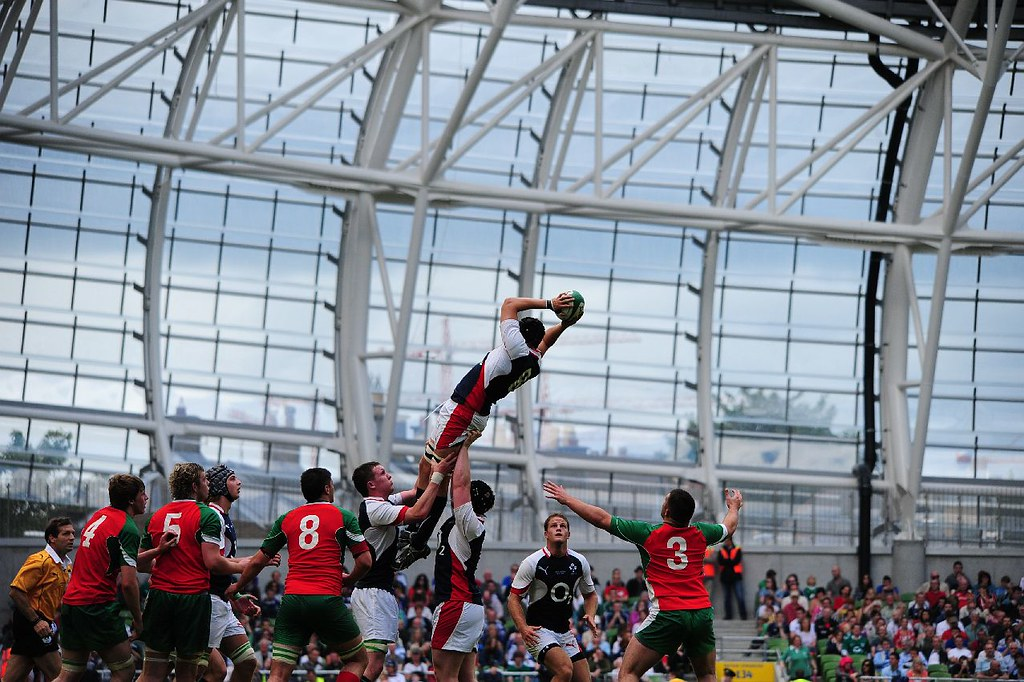 First half action. David McGuigan (Ulster) rises high to c ...