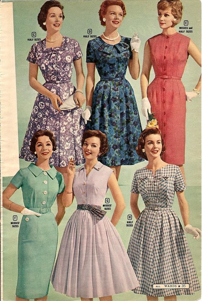 50-е: fashion ads