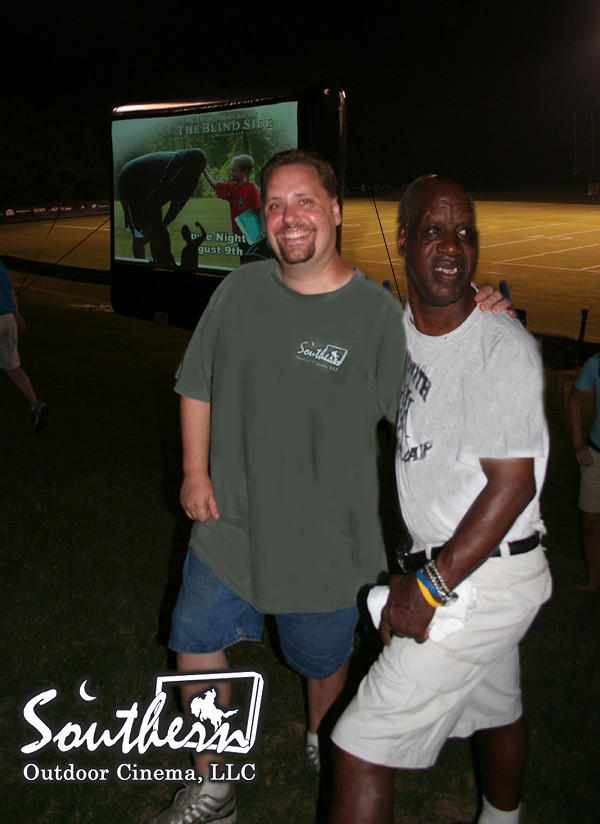meeting the reallife radio at outdoor movie event flickr
