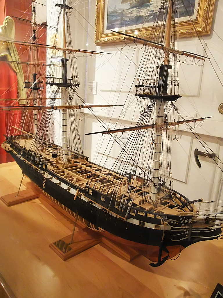 Model of USS Constitution Old Ironsides as she appeared in ...