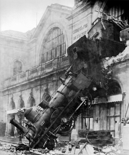 Train wreck at Montparnasse 1895 | by mlevin77